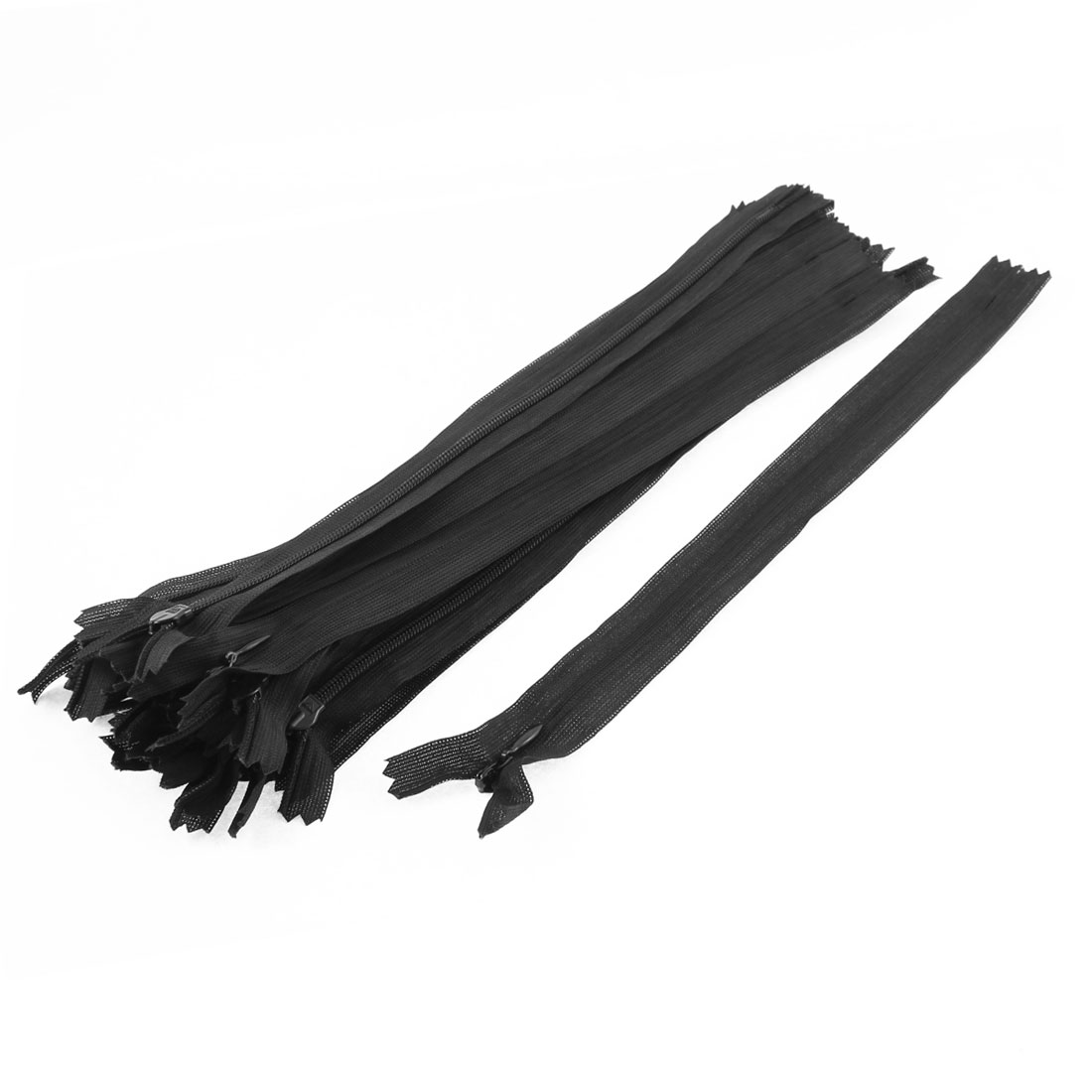 Unique Bargains Clothes Invisible Nylon Coil Zippers Tailor Sewing Craft Tool Black 25cm 20 Pcs for Home Essential