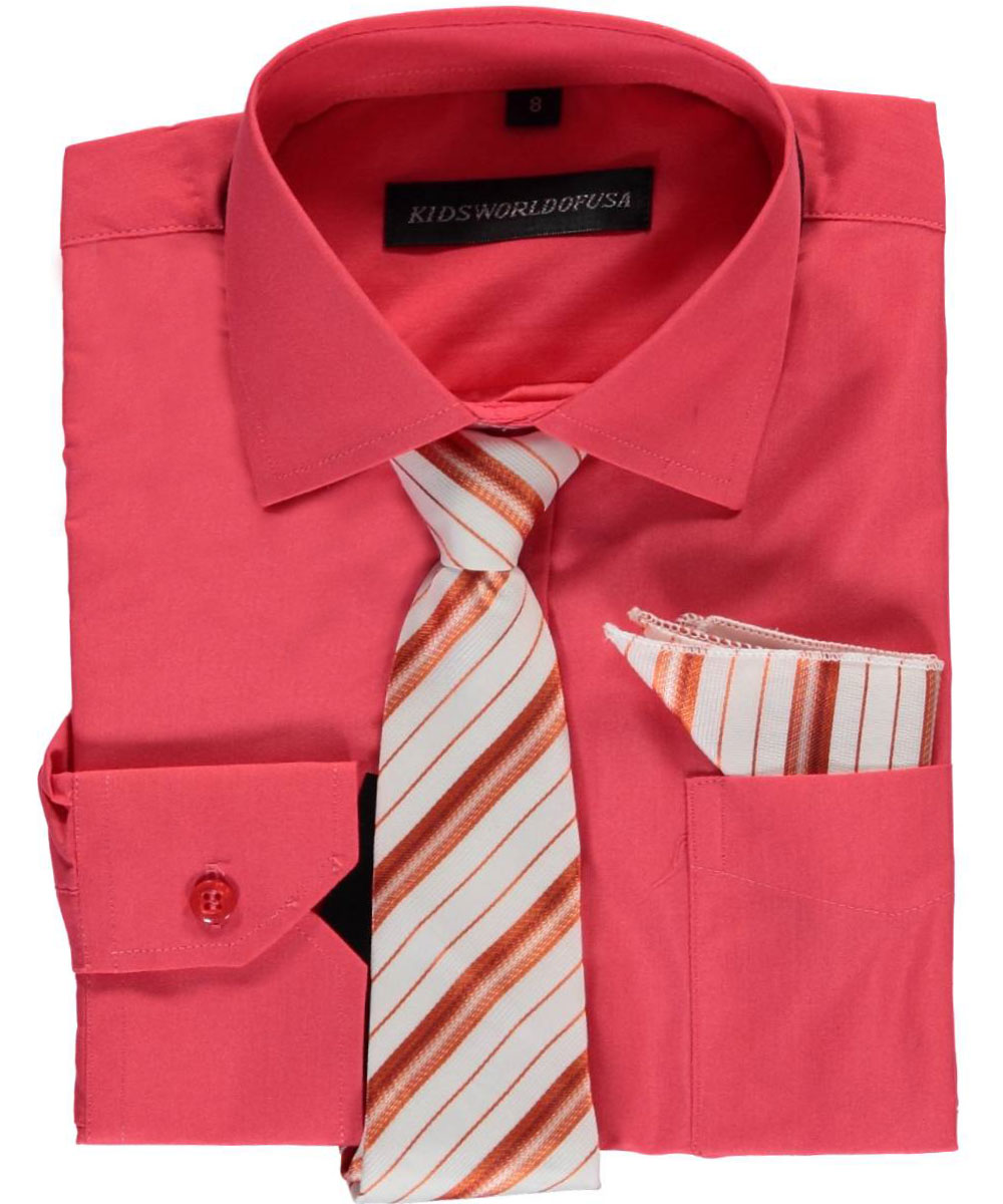 Big Boys' Dress Shirt with Accessories (Sizes 8 - 20)