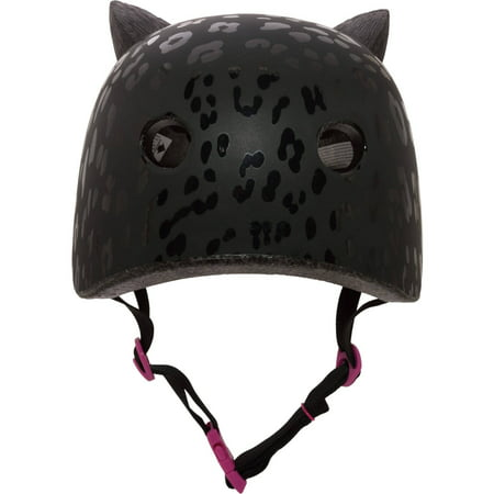 Krash! Leopard Kitty 3D Multisport Helmet, Black, Youth 8+ (54-58cm