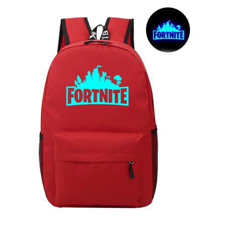 Game Fortnite Battle Royale Backpack Luminous Fortnite School Bags Red