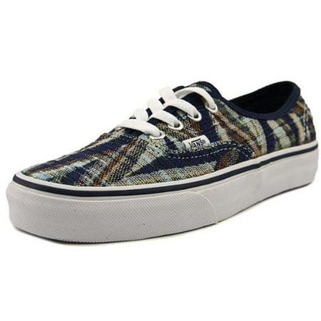 Vans Authentic Woven Chevron Dress Blues / True White Ankle-High Canvas Fashion Sneaker - 10M 8.5M