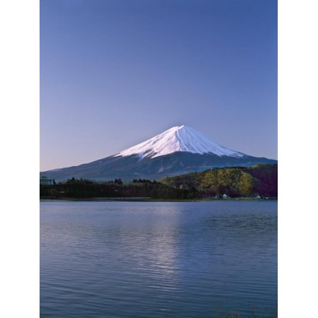 Sunrise on Mount Fuji from Lake Kawaguchi, Yamanashi Prefecture, Japan Print Wall Art By Nigel Blythe