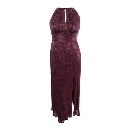 Womens Metallic Knit Halter Sheath Dress 12 Halter Sheath Dress