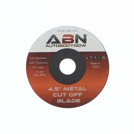 """ABN Metal Slicer Cut-off Wheel, 4.5"""" Grinder Disc, Type 1 - ⅞"""" Bore - 20 Pack (Type Xy Disc)"""