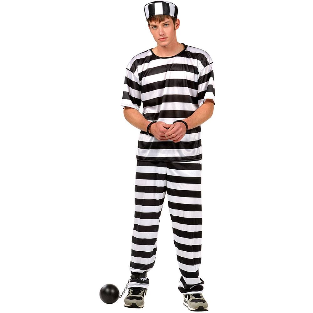 Convict Man Teen Costume