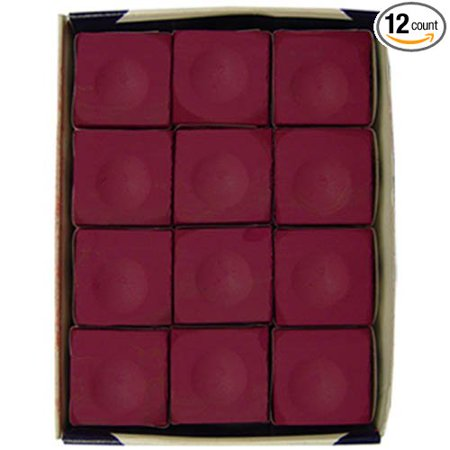 Chalk, Burgundy, 12-Piece Box, Sold by CueSight By Silver Cup