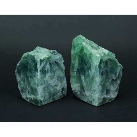Natural Fluorite Gemstone Bookend Set - image 1 de 4