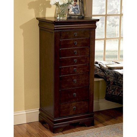 powell furniture louis philippe jewelry armoire with mirror. Black Bedroom Furniture Sets. Home Design Ideas