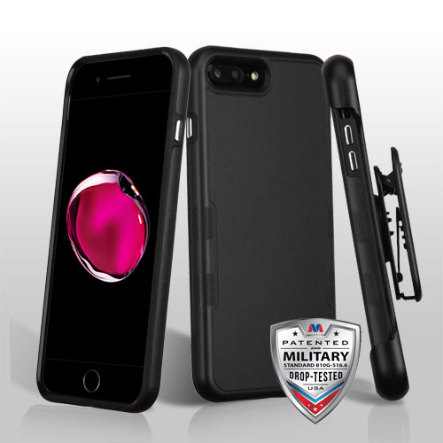 For iPhone 7 / 8 Plus TUFF Contempo Hybrid Protector Case Cover with Holster