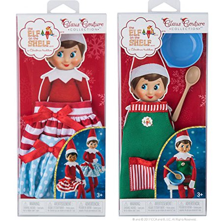 The Elf on the Shelf Claus Couture Collection Twirling in the Snow Skirts and Sweet Shop Set