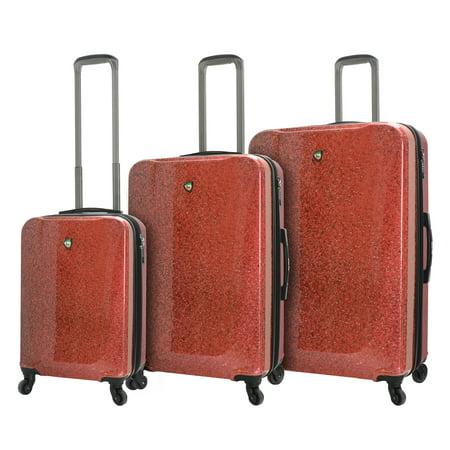 Leather Italian Genuine Luggage Set - Mia Toro ITALY Caglio Hardside Spinner 3 Piece Luggage Set