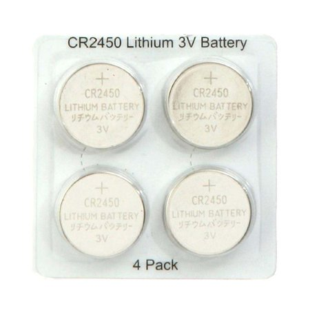Liown 18177 - CR2450 3 Volt Lithium Button Cell Watch / Garage Door / Calculator / Medical Battery (4 pack) (CR2450 BATTERY 4PK #18177)