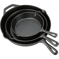 Deals on Ozark Trail 3 Piece Cast Iron Skillet Set