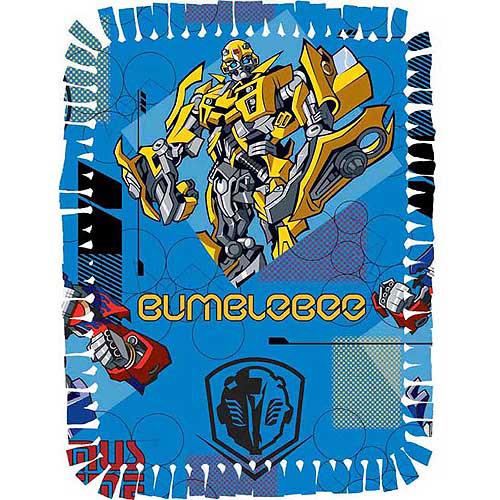 Creative Cuts Microfiber No Sew Throw Kit, Hasbro Transformers, Blue