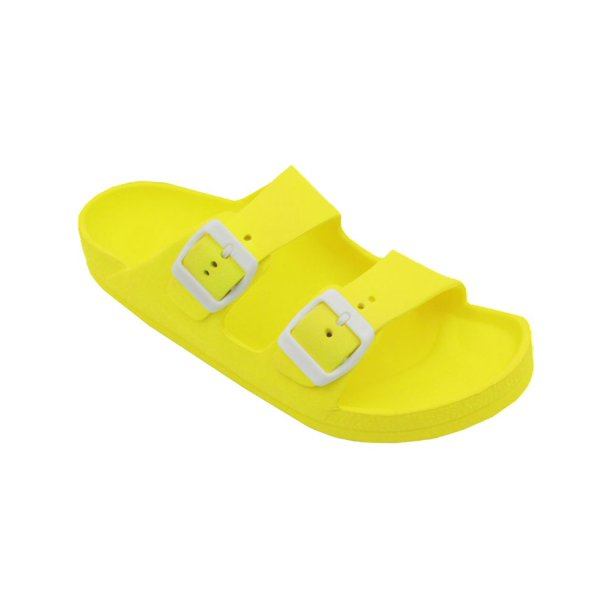 Lavra Women S Double Buckle Sandals Soft Comfort Lightweight Slide Walmart Com Walmart Com