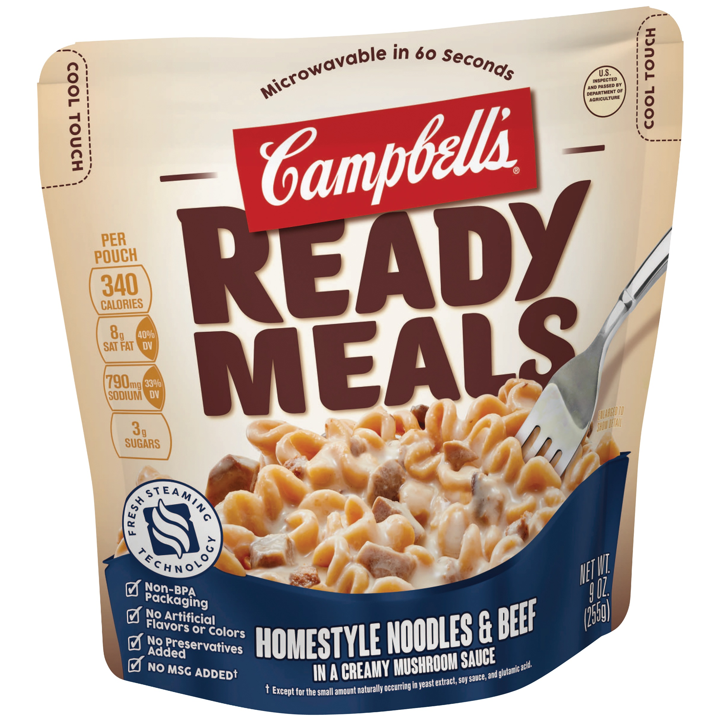 Campbell's Ready Meals Homestyle Noodles & Beef in a Creamy Mushroom Sauce, 9 oz by Campbell Soup Company