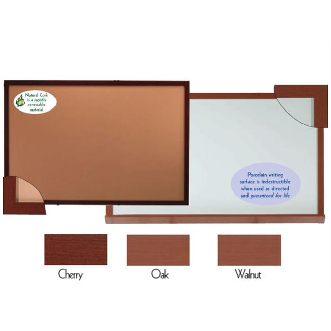 Aarco Products 420WWD3648 High Gloss Marker Board Aluminum Wood Look Walnut by Aarco Products Inc