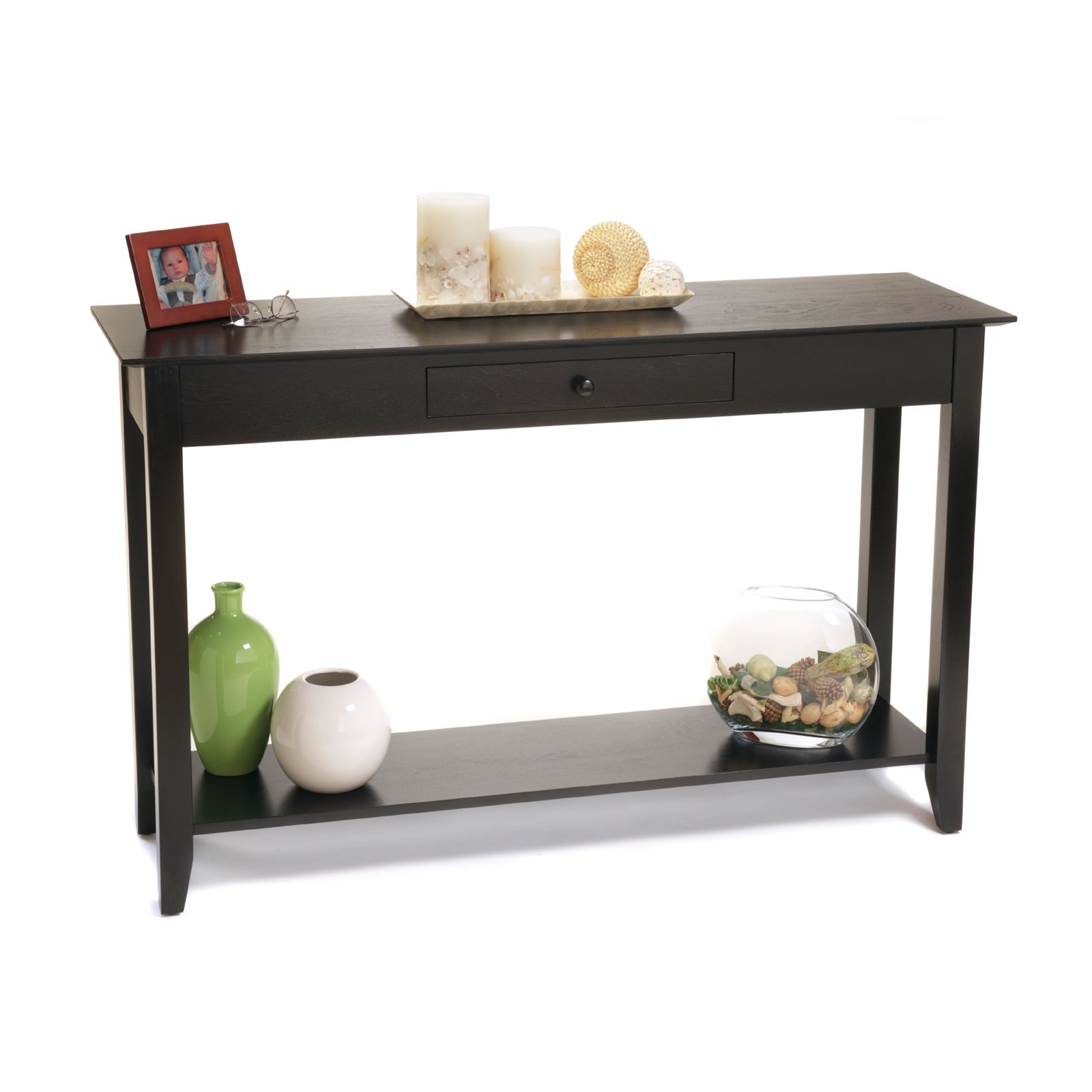 Modern black console table - Convenience Concepts American Heritage Console Table Multiple Finishes Walmart Com