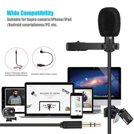 Yanmai Lavalier Lapel Microphone Clip-on Omnidirectional Mic