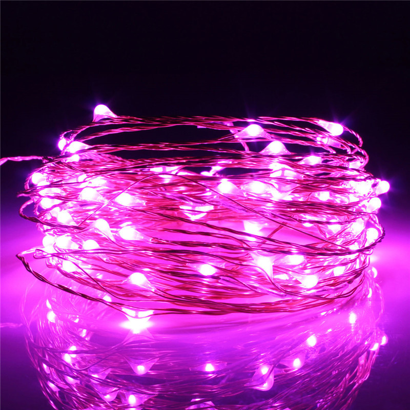 10M 100 LED String Fairy Light Waterproof Copper Wire for Outdoors Christmas Wedding Party Decoration DC12V