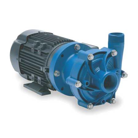 "FINISH THOMPSON 1/2 HP PP Magnetic Drive Pump 208-230/460V 1-1/2"" FNPT, DB7P-M227"