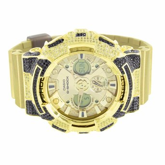Metallic Gold G Shock GA200GD-9A Watch Men Resin Band Lab Created Cubic Zirconia Digital Analog