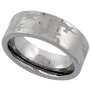 8mm tungsten 900 camouflage wedding ring comfort fit sizes 8 13 - White Camo Wedding Rings