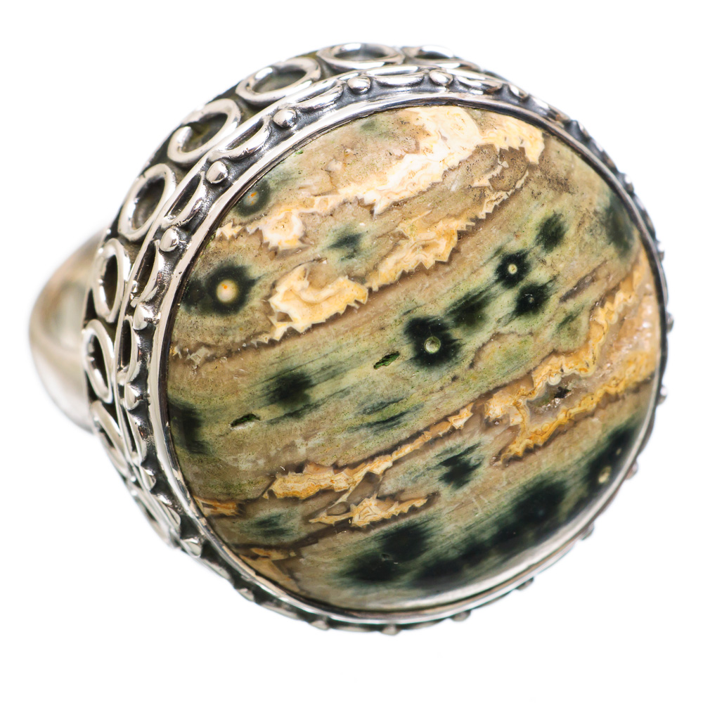 Ana Silver Co Large Rare Ocean Jasper 925 Sterling Silver Ring Size 6 RING838051