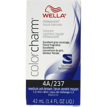 Wella Color Charm Liquid Haircolor 4a/237 Medium Ash Brown, 1.4 oz