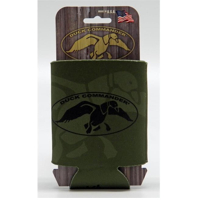 Duck Commander DC-CC-GB Can cooler  Olive Drab Green & Black Logo
