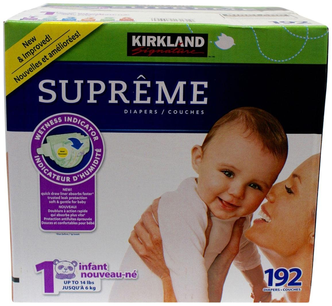 Kirkland Diapers-Size 1-192 Count