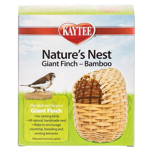 "Kaytee Nature's Nest Giant Finch Bamboo Nest 6"" Long x 4"" Wide"