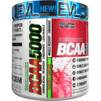 Evlution Nutrition BCAA 5000 Powder, Cherry Limeade, 30 Servings
