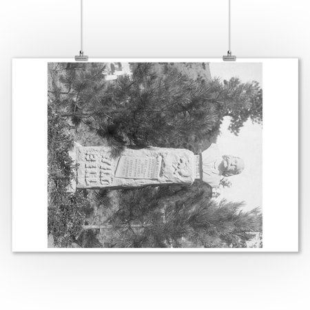Headstone of Wild Bill Hickock's Grave Photograph (9x12 Art Print, Wall Decor Travel Poster) ()