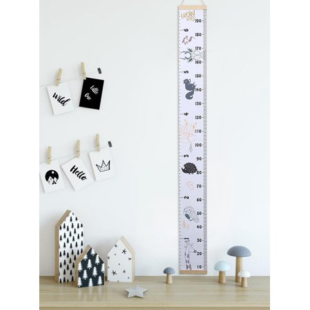 Wall Ruler Canvas Growth Chart Baby Growth Chart for Boys and Girls, Great for  Bedrooms, Wall Decor Star Girl Growth Chart