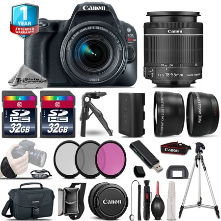 Canon EOS Rebel SL2 DSLR Camera + 18-55mm IS STM - 3 Lens Kit + 32GB +