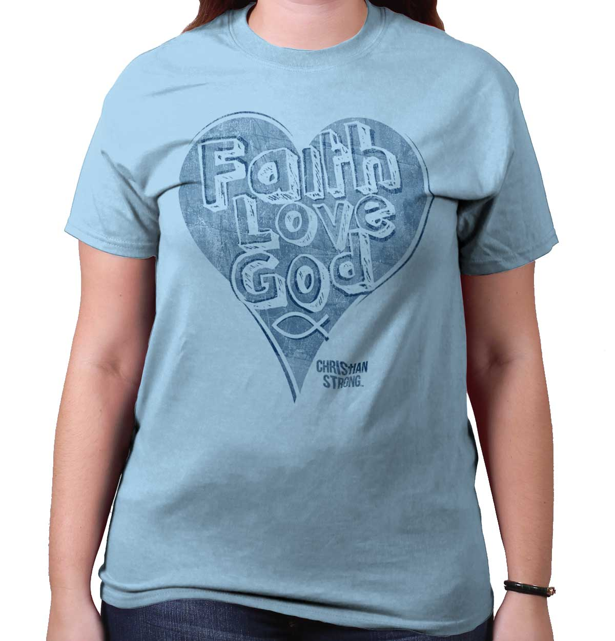 Faith Love God Heart Christian Shirt | Jesus Christ Gift Idea T-Shirt Tee