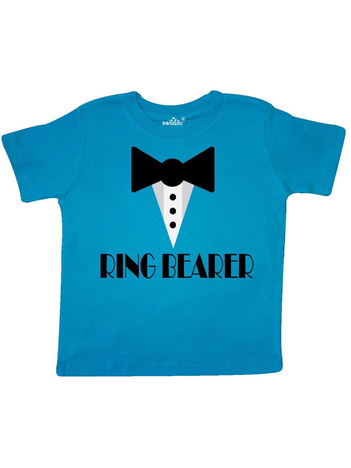 Ringbearer Mock Tux Wedding Tuxedo Toddler T-Shirt - Walmart.com