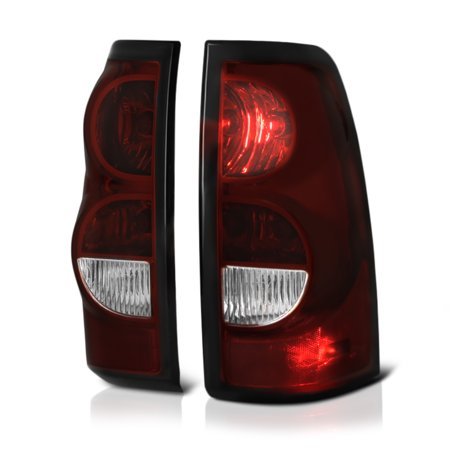 VIPMOTOZ Smoke Red Lens OE-Style Tail Light Lamp Assembly For 2003-2006 Chevy Silverado 1500 2500 3500 Pickup Truck 3500 Truck Chevy Truck