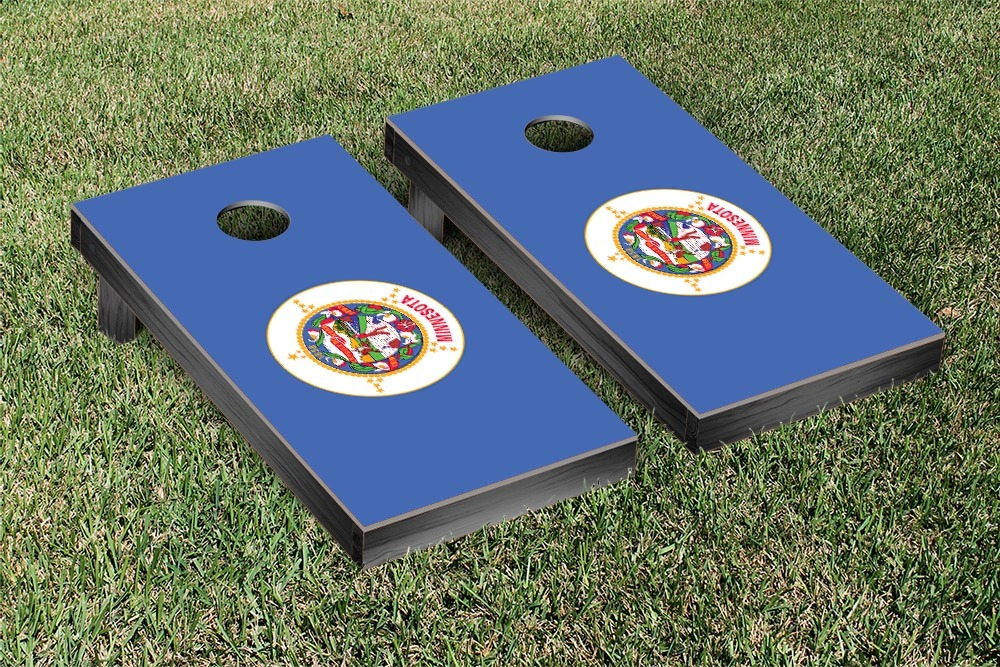 Minnesota Flag Cornhole Beanbag Toss Game by Victory Tailgate