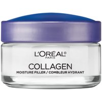 L'Oreal Paris Moisture Filler Facial Day Night Cream, lightweight Collagen, 1.7 oz.