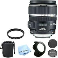 Canon EF-S 17-85mm f/4-5.6 IS USM SLR Lens AL'S VARIETY Premium Lens Bundle + U.V. Filter + Deluxe Case + Al's Variety Cleaning Cloth + 5pc Bundle