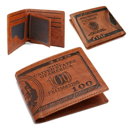 Creative Cool PU Leather US Dollar Bifold Wallet Short Purses Male Cards Wallets Notecase For Father's Day Gifts ()