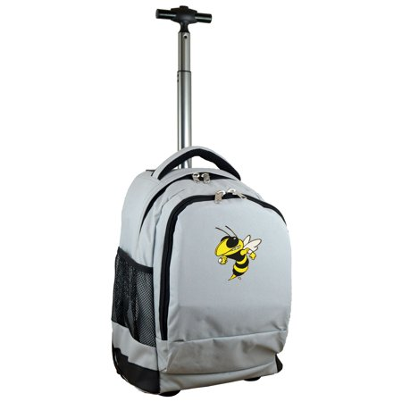 Georgia Tech Yellow Jackets 19 Premium Wheeled Backpack - Gray