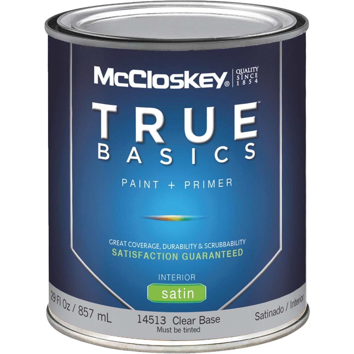 McCloskey True Basics Latex Paint & Primer Satin Interior Wall Paint