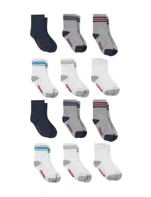 Hanes Infant Boys Crew socks P6