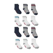 Hanes Baby and Toddler Boys Crew Socks, 12-Pack