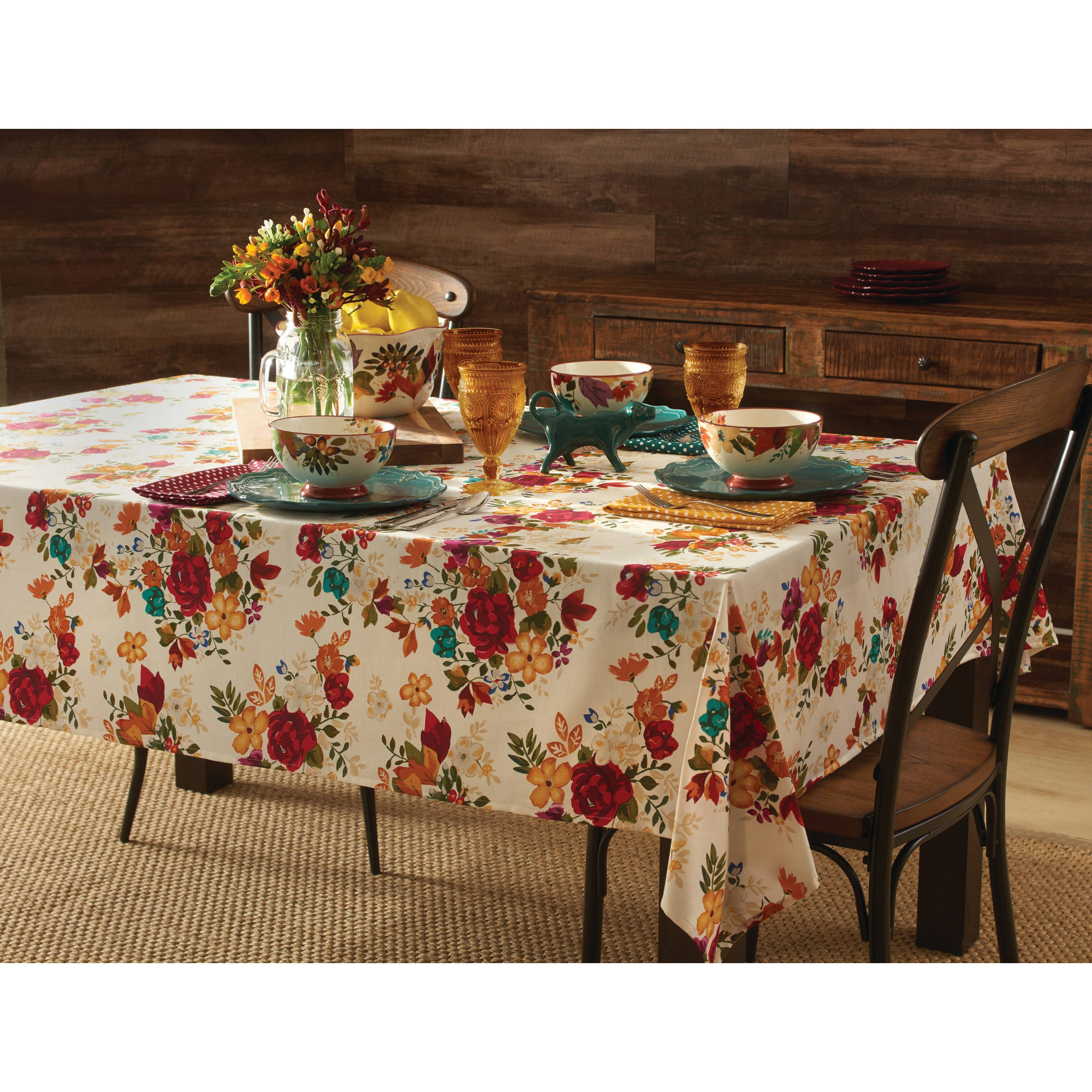 Pioneer Woman Timeless Floral Tablecloth - Walmart.com