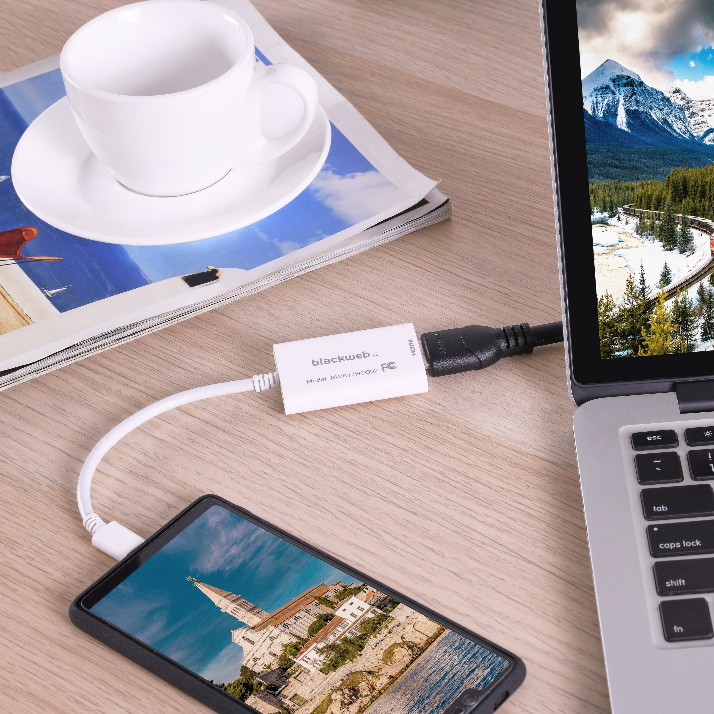 Blackweb Usb-C To Hdmi Adapter, Supports Resolutions Up To 4K At