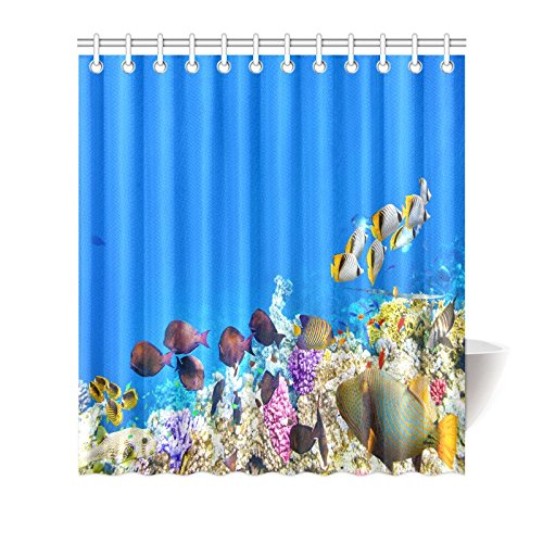 MYPOP Wonderful Ocean Shower Curtain, Beautiful Underwater
